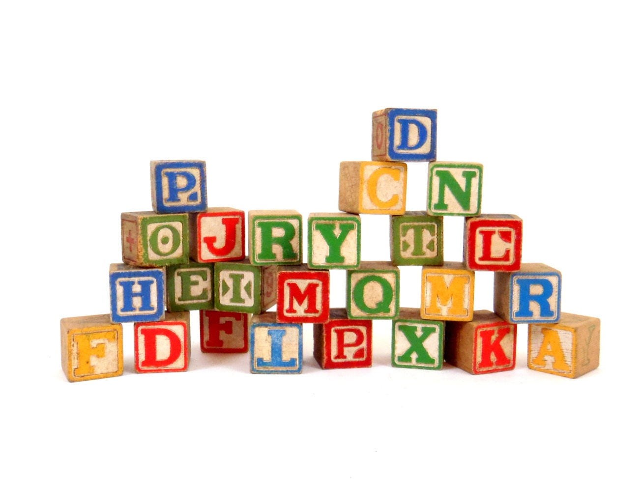 Wooden Blocks Baby blocks Alphabet Blocks Wood by HonestJunk