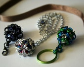 Dodecahedron Chainmaille Your choice of Necklace, Zipper Pull or Keychain