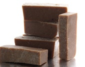 Manly beer soap, scented with mint and hops