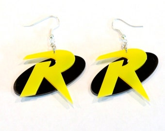 Robin Logo Inspired Dual color Earrings