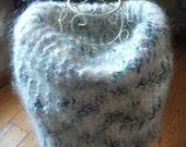 LUXURY MOHAIR COWL,handspun Italian yarn, pastel colors, fluffy, neckwarmer, women