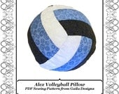 """Volleyball or Water Polo Pillow PDF Sewing Pattern DIY home decor """"Alex"""""""