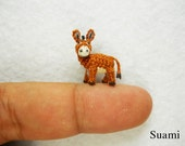Miniature Brown Donkey 0.6 Inch - Made To Order