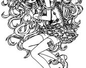 Anime Girls With Wavey Hair // FLONZ Clear stamp clingy acrylic