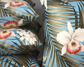 hibiscus barkcloth medium lumber cushion cover