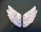 White and Beige Percy Jackson Inspired Shoe Wings