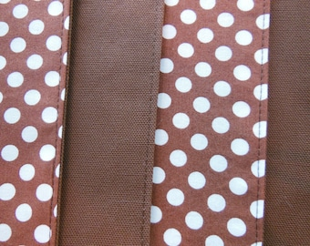 Polka Dot Placemats -  Customize Your Own Pillowscape Reversible Placemats - You Select The Fabrics To Coordinate With Your Home Decor