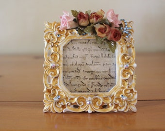 Picture frame, small picture frame, embelished frame, embelished picture frame, frame, rectangular picture frame