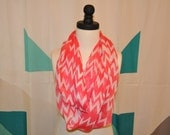 Chevron Infinity scarf in Bright Pink