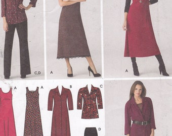 Simplicity 3700 easy to sew Sizes 20W-28W pants dress jumper shirt dress or tunic blouse top shirt uncut sewing pattern