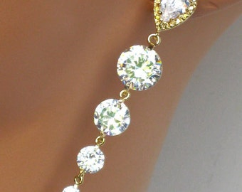 Wedding Earrings. Bridal Earrings. Long Bridal Jewelry. Wedding Jewelry. Rhinestone. Bridesmaids Jewelry