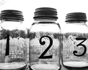 Wedding Table Number Centerpieces Mason Jar Centerpieces Mason Jar Wedding Country Wedding Cheap Wedding Table Numbers Vinyl Table Numbers