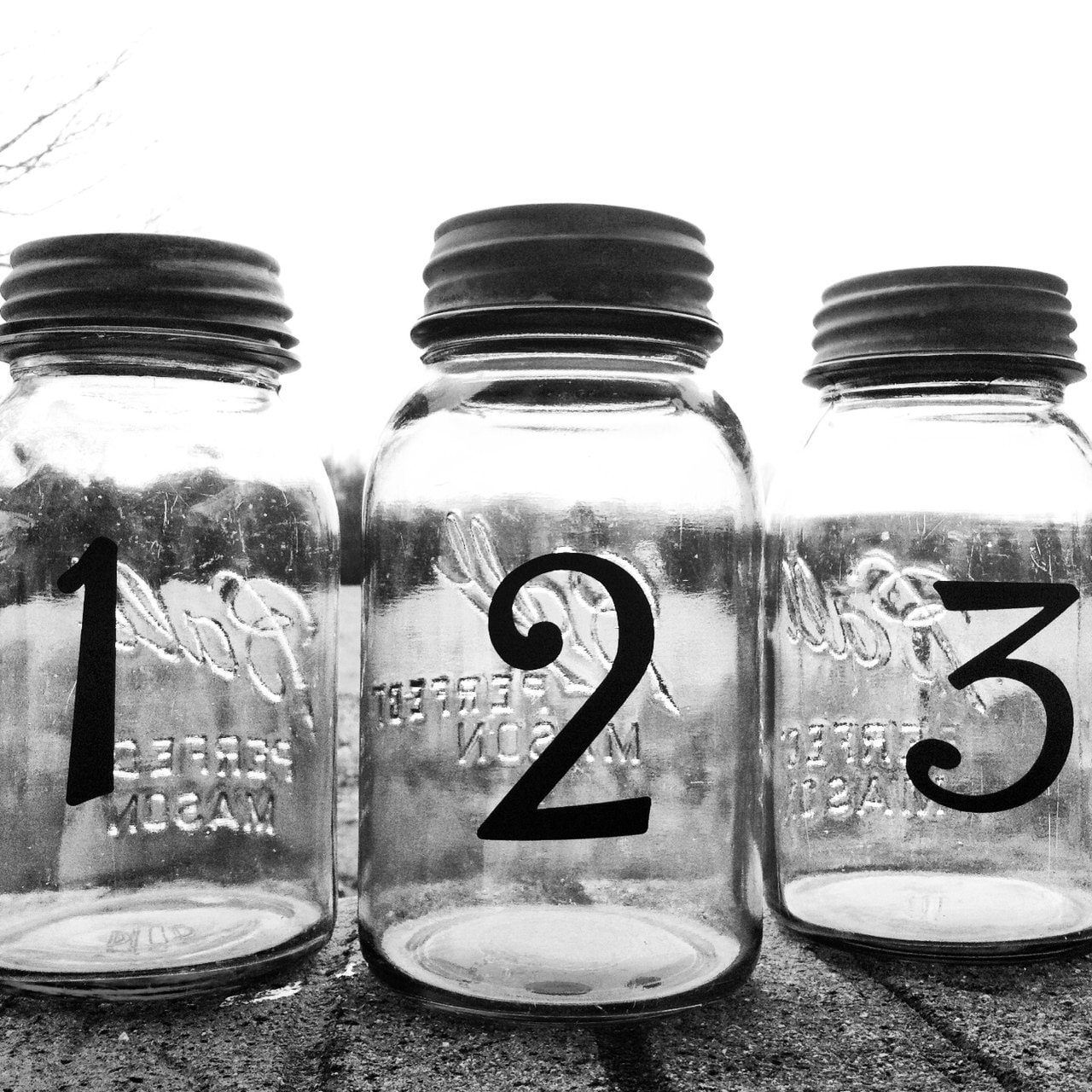 Wedding Table Number Centerpieces Mason Jar Country Cheap Numbers Vinyl