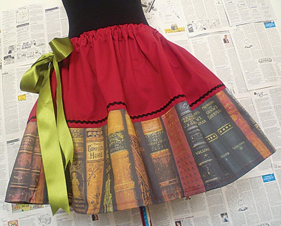 Geek Clothing, Geek Skirts, Geek Dresses, Book Lovers, Book Print Dress, ROOBY LANE