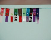 Package of 5 Krislet Wallet Tabs--Organize and personalize your wallet with ribbon tabs--Choose your variety