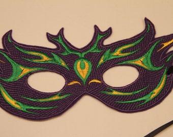Purple, Green and Yellow Mardi Gras Mask