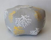 "18"" Ottoman Pouf Floor Pillow Coral Isadella"