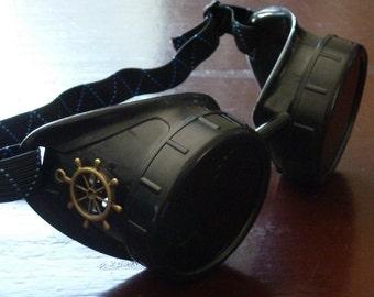Victorian Steampunk goggles aviator victorian welding biker eye cup--rsw