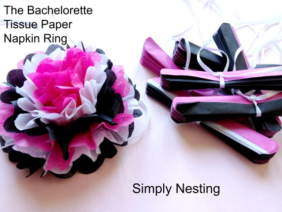 Tissue Paper Napkin Ring, The Bachelorette, Bachelorette Party, Bridal Shower, Sweet Sixteen