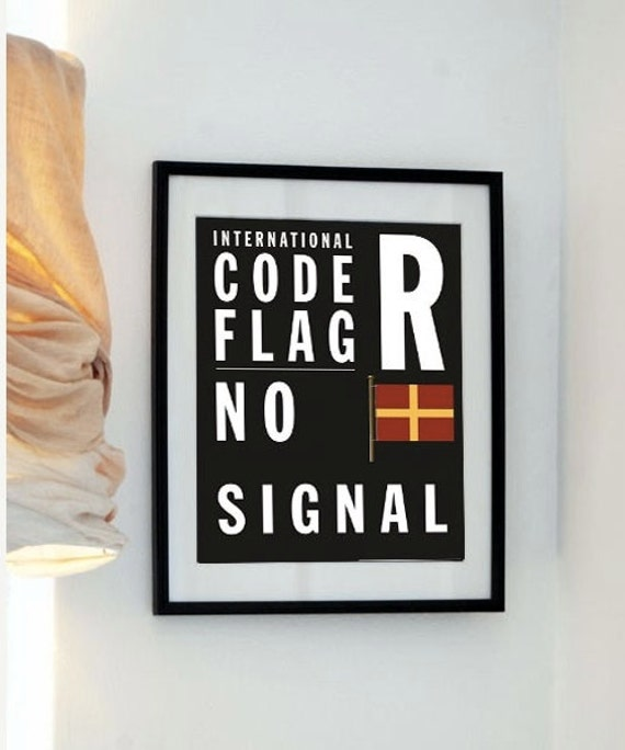 Letter R- Bus Roll International Code Flag - No Signal