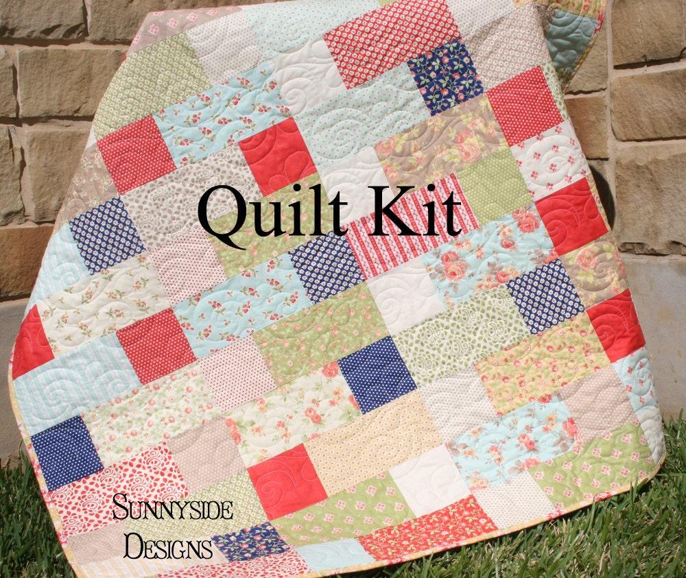Quilt Kit Avalon Fig Tree Moda Fabrics Layer Cake Pattern