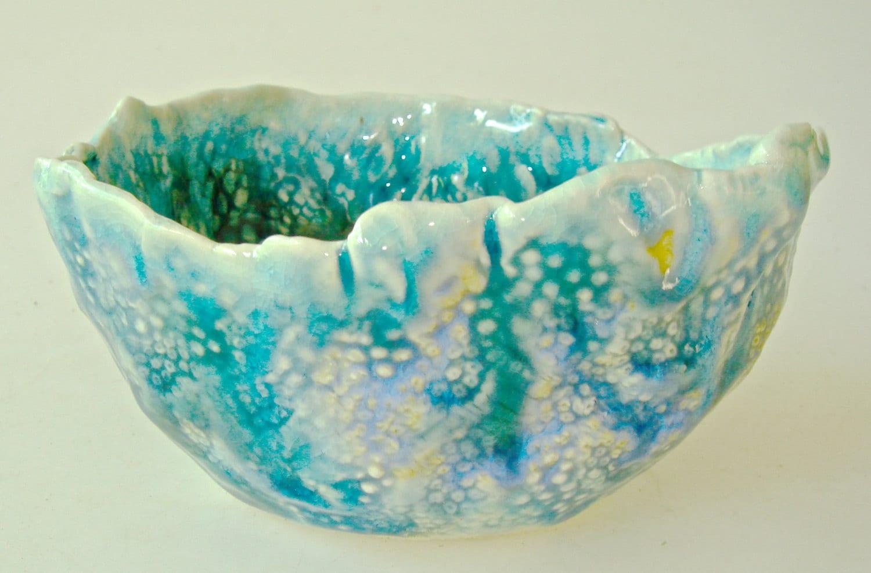 Decorative Ceramic Bowl Porcelain Bowl Ocean By Clayshapes