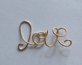Love, Gold fill Connector, 14K, Etsy jewelry, Lilyb444