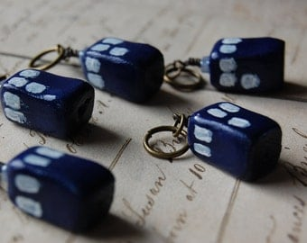 Tiny TARDIS Stitch Markers