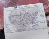 Vintage Aviation Pilot's Sectional Flight Plan Map FAA - 1975 US