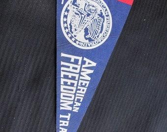 Vintage Felt Mini Pennant Banner - Amreican Freedom Train 1975