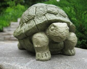 Turtle Statue, Concrete Garden Statue, Concrete Turtle, Tortoise Statue, Garden Decor, Cement Turtle, Cement Tortoise, Turtles, Concrete Art