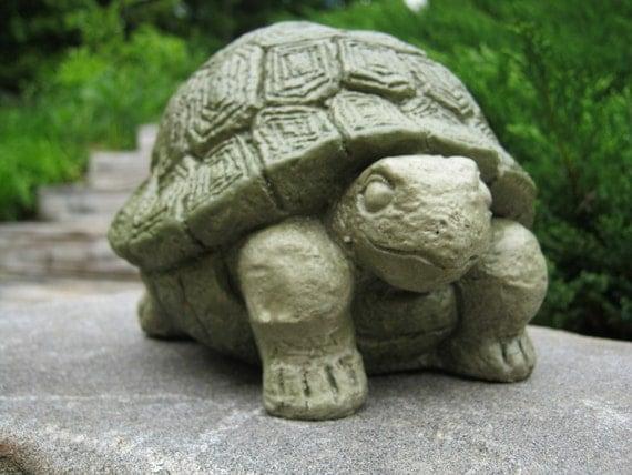 Turtle statue concrete garden statue concrete turtle - Cement cloth garden ornaments ...