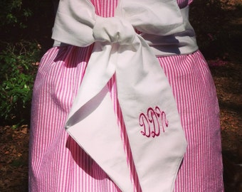 Monogramed add on for orders of dresses that come with a belt but without a monogram