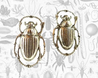 Cufflinks Egyptian Scarab Beetle Antique Silver Gothic Victorian Inspired