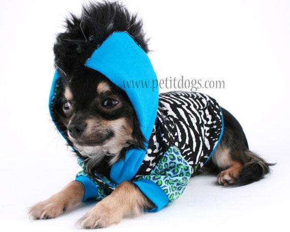 Dog Mohawk Sweater Dog Clothes Small Mohawk Blue