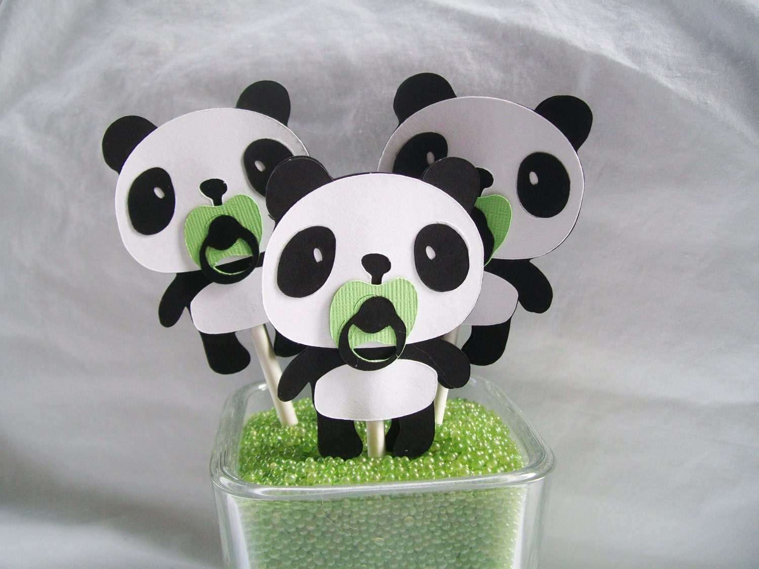 Panda Bear Cupcake Toppers Baby Shower By NancysBannerBoutique