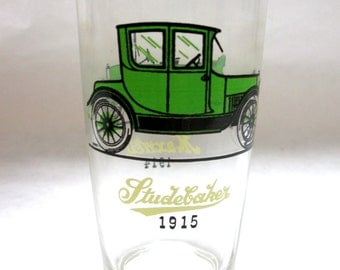 Anchor Hocking Studebaker Bar Classic Car Vintage Drinking Glass