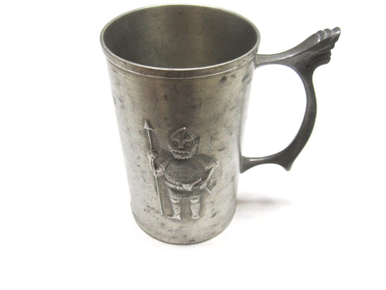 Pewter Viking Stein Mug Vintage Elk Tinn Norway Pewter Stein