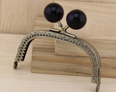 9cm(3.54inch) antique bronze square shape candy beads metal sewing purse frame C6D-13