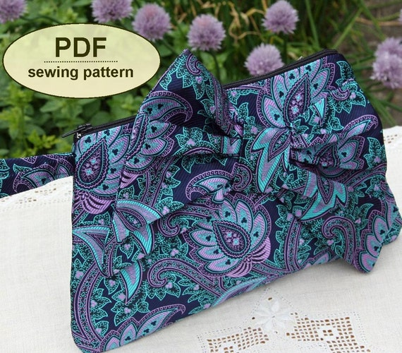 Sewing pattern to make the Bon Bon Clutch Purse - PDF pattern INSTANT DOWNLOAD