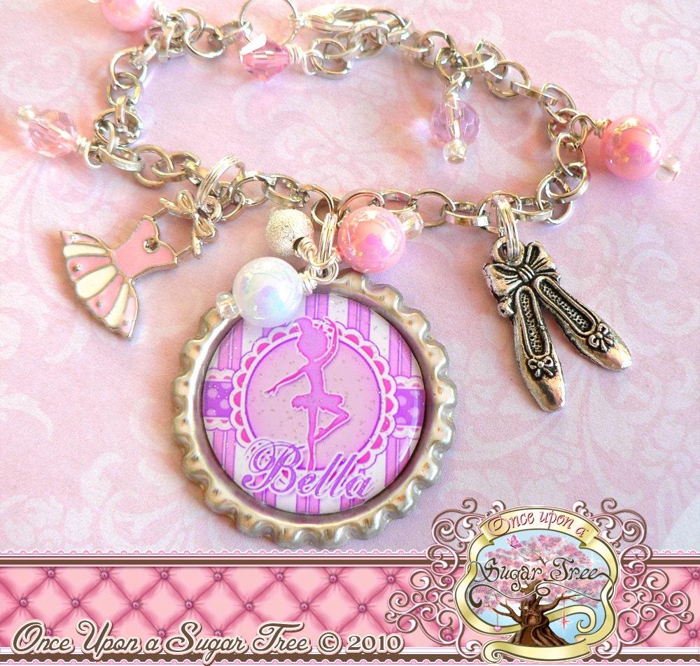 Ballet Charm Bracelet: Personalized Children's BALLET Charm Bracelet DANCE