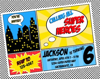 Super Hero Printables Invitation DIY