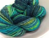 Free EU shipping Handspun yarn - soft Shetland, single ply, 124 m, 135 yards