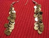 Brass Scales Earrings