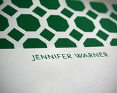Personalized Stationery with Lined Envelope - Octagon