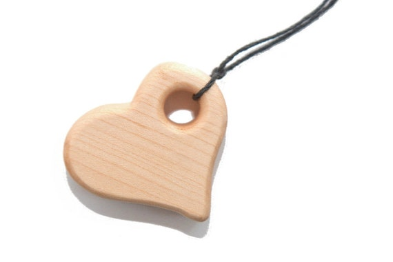 ORGANIC Teething Necklace for Mom & Baby - Modern Heart