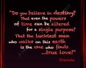 Dracula Bram Stoker Goth Quote Art 5x7 Framed Inspirational Print Famous Author Writer Movie Quotation Fine Art