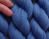 Cornflower Blue Recycled Lace Weight Merino Yarn, 501 yards