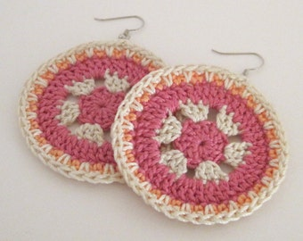 Pinwheel Passion Crochet Earrings