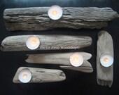 Driftwood tea light holder, set of 5
